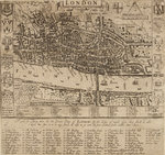 Map of the City of London, 1593 by Anonymous - print
