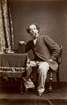 Portrait of Charles Dickens, 1861 by Wilhelm Burger - print