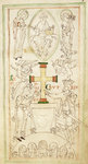 King Cnut and Queen Emma-Ælfgifu presenting a cross to the altar of New Minster by Anonymous - print