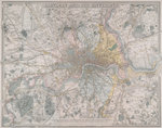 Map of London by Thomas Tegg - print