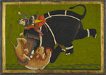 An elephant and rider trampling a tiger by Anonymous - print