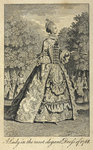 A lady in the most elegant dress of 1768 by Thomas Chippendale - print
