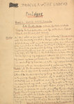 Dracula manuscript by Anonymous - print
