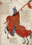 Mounted knight of Prato by Associate of the Beaufort Saints Master - print