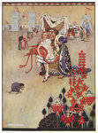 Alice playing croquet by Charles Lutwidge Dodgson - print