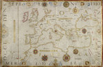 Chart of the Mediterranean and western coasts of Europe by Petrus - print