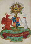 Arms of Henry VII by Associate of the Beaufort Saints Master - print