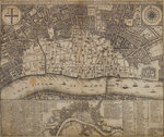 A map of damage resulting from the Great Fire of London by Anonymous - print