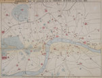 1862 map of London with bus and cab routes by Wenceslaus Hollar - print
