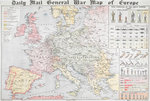 Daily Mail General War Map of Europe by Anonymous - print