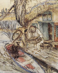 Rat and Mole by the river by Arthur Rackham - print