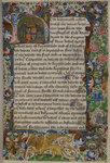 Royal arms of Richard III by Associate of the Beaufort Saints Master - print