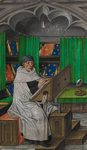 Vincent de Beauvais at work in his study by Anonymous - print