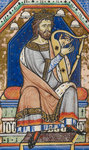 King David playing the harp by Jean de Meun - print