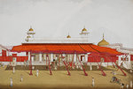 Divan-i Khas in the Delhi palace by Govardhan II - print