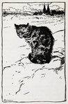 A cat by Gustave Dore - print