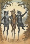 The Tabby Polka by Louis Wain - print
