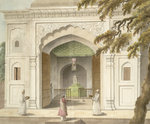 Mausoleum of Hafiz Rahmat Khan by Marianne North - print