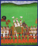 Maharana Fateh Singh of Udaipur atop an elephant by Anonymous - print