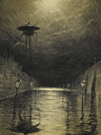 The Flooded City by Emile Antoine Bayard - print