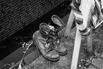 Combat boots at the Vietnam Veterans Memorial