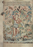 God the Creator with birds and beasts by Anonymous - print