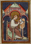 A scribe writing by Bede - print