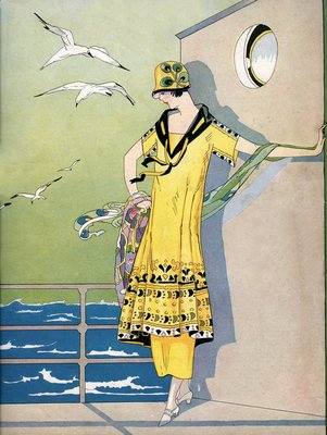 Illustration of Woman in 1920s Fashion Wall Art & Canvas Prints by Anonymous