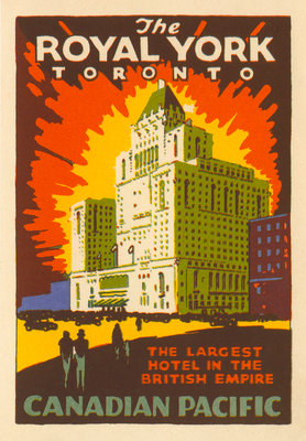 The Royal York Toronto Luggage label Postcards, Greetings Cards, Art Prints, Canvas, Framed Pictures & Wall Art by Corbis