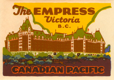 The Empress Luggage label Postcards, Greetings Cards, Art Prints, Canvas, Framed Pictures & Wall Art by Corbis