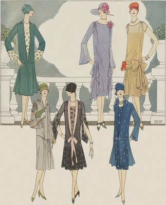 Women's fashion from 1920s Wall Art & Canvas Prints by Anonymous