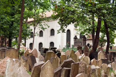 Old Jewish Cemetery in Josefov-the old Jewish quarter in Prague, the oldest existing Jewish cemetery in Europe Postcards, Greetings Cards, Art Prints, Canvas, Framed Pictures, T-shirts & Wall Art by Corbis