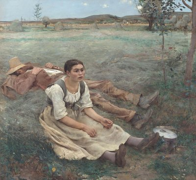 Hay Making Postcards, Greetings Cards, Art Prints, Canvas, Framed Pictures & Wall Art by Jules Bastien-Lepage