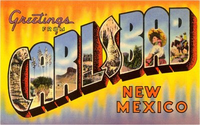 Greetings from Carlsbad, New Mexico Wall Art & Canvas Prints by Corbis