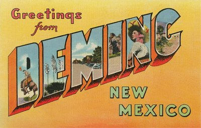 Greetings from Deming, New Mexico Wall Art & Canvas Prints by Corbis