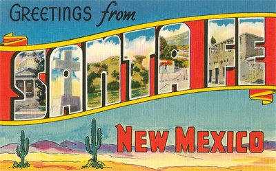Greetings from Santa Fe, New Mexico Wall Art & Canvas Prints by Corbis