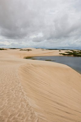 White Sand dunes and fresh water lakes at Lencois Maranheinses National Park, Brazil Wall Art & Canvas Prints by Corbis