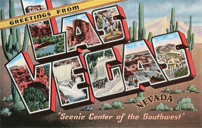 Greetings from Las Vegas, Nevada, Scenic Center of the Southwest Wall Art & Canvas Prints by Corbis
