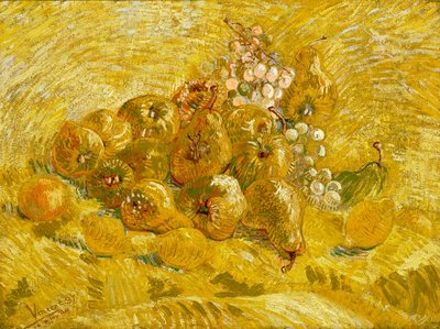 Quinces, Lemons, Pears and Grapes Wall Art & Canvas Prints by Vincent Van Gogh