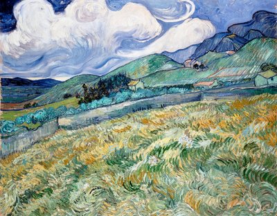 Landscape from Saint-Rémy Wall Art & Canvas Prints by Vincent Van Gogh