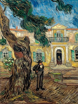 The Hospital of Saint Paul at Saint Remy de Provence Wall Art & Canvas Prints by Vincent Van Gogh