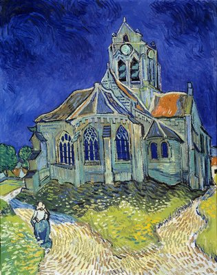 The Church of Auvers-sur-Oise Postcards, Greetings Cards, Art Prints, Canvas, Framed Pictures & Wall Art by Vincent Van Gogh