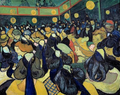 The dance hall in Arles Postcards, Greetings Cards, Art Prints, Canvas, Framed Pictures & Wall Art by Vincent Van Gogh