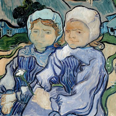 Two Little Girls Wall Art & Canvas Prints by Vincent Van Gogh
