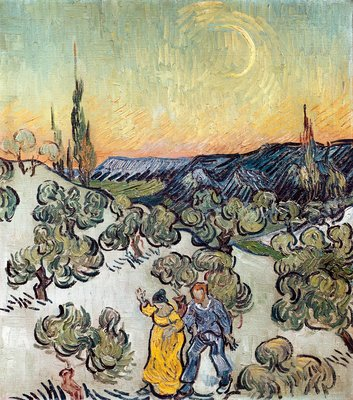 Moonlit Landscape, 1889 Wall Art & Canvas Prints by Vincent Van Gogh