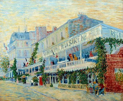 The Restaurant de la Sirene at Asnieres - Postcards, Greetings Cards, Art Prints, Canvas, Framed Pictures & Wall Art by Vincent Van Gogh