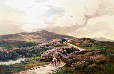 A Highland Landscape, Killin, Perthshire Postcards, Greetings Cards, Art Prints, Canvas, Framed Pictures, T-shirts & Wall Art by Sidney Richard Percy