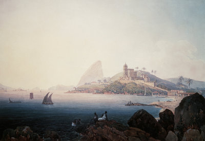 View of the Gloria Church and Sugarloaf Mountain, Rio de Janeiro Wall Art & Canvas Prints by Thomas Ender