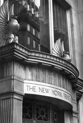 Facade of New York Trust Co Wall Art & Canvas Prints by Corbis