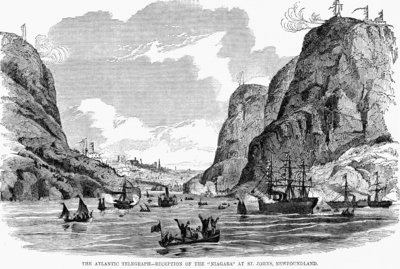 Transatlantic Cable Arrives in Newfoundland Wall Art & Canvas Prints by Corbis